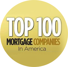top 100 mortgage companies badge